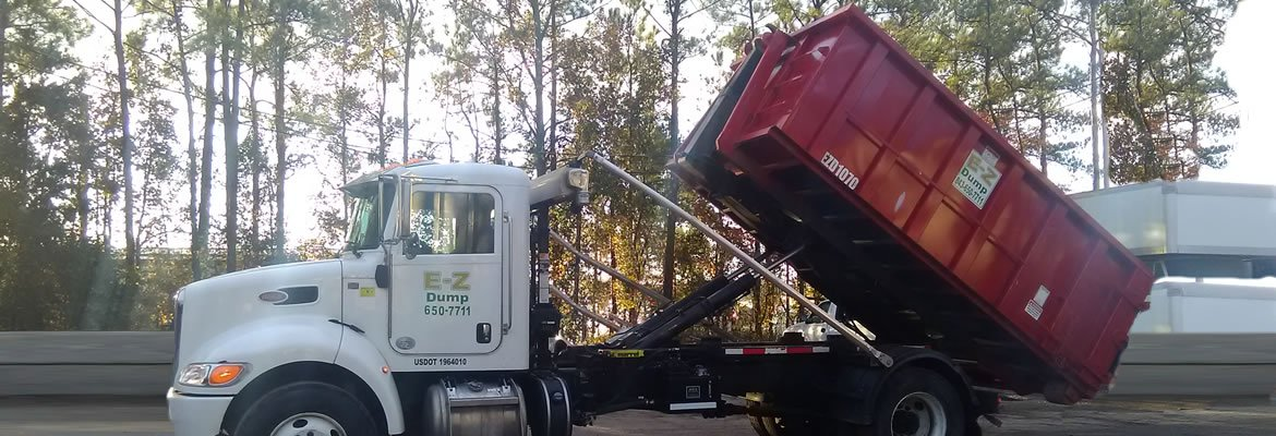 15 yard dumpster loading on truck