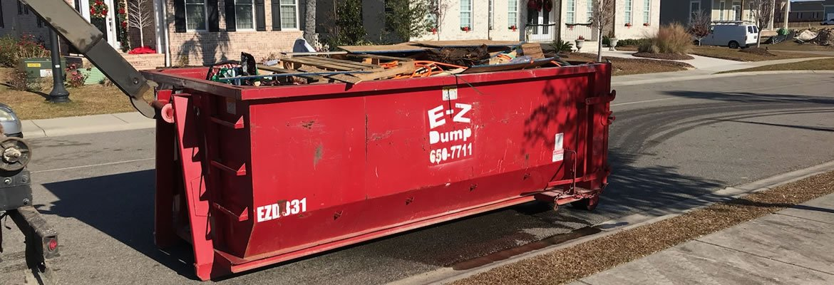 15 yard dumpster at worksite